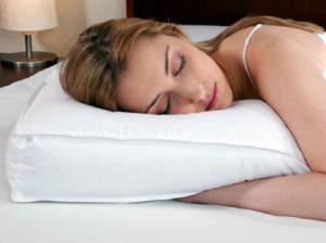 Woman sleeping on wholesale hotel pillow