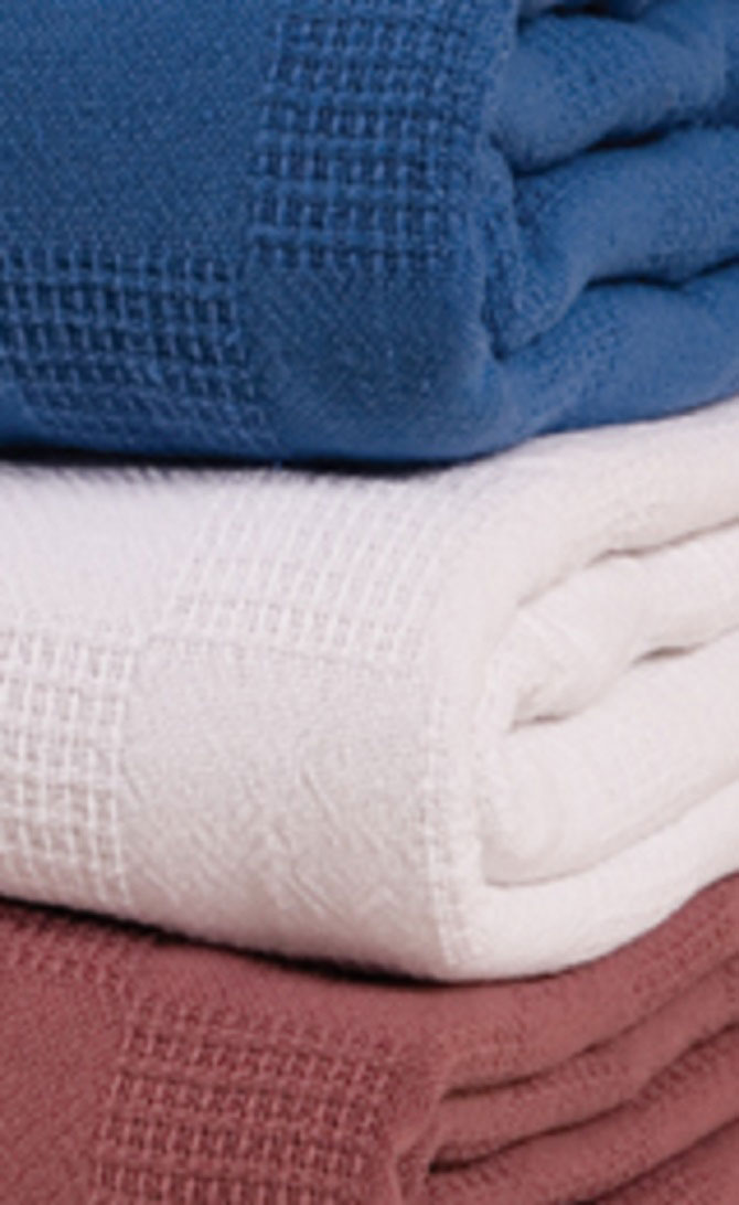 Lexington Cotton Thermal Blankets Twin